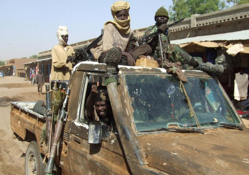 Sudanese Liberation Army (SLA) rebels in Chad