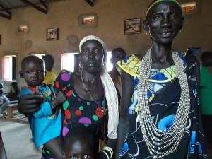 Mulheres Dinka Sudão do Sul